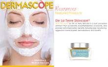 De La Terre Skincare® Herb Rich Balm featured in Dermascope.