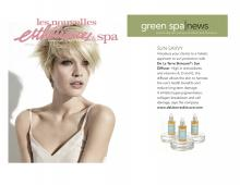 De La Terre Skincare® Sun Diffuser featured in Green Spa News Ecofriendly Skin and Spa Products.