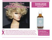 CIS Serum featured in LNE September Breast Cancer Awareness Product Photo Shoot