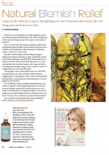 Organic Spa Magazine - July 2013 - Natural Blemish Relief -De La Terre Skincare